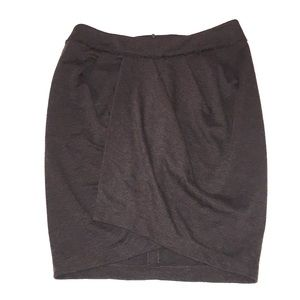 YOANA BARASCHI charcoal drape front pencil skirt